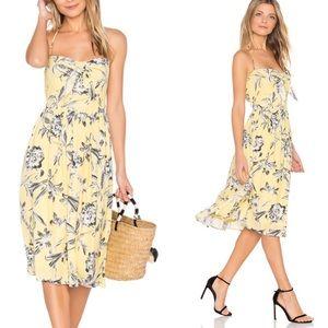 BB Dakota Lily Printed Joss Halter Dress Midi